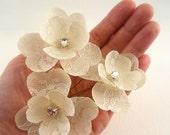 Swarovski Bridal Hair Flower, Wedding Hair Flower, Lace Bridal Hair Pins, Crystal Wedding Hair Pin, Bridal Hair Piece Wedding Hair Accessory