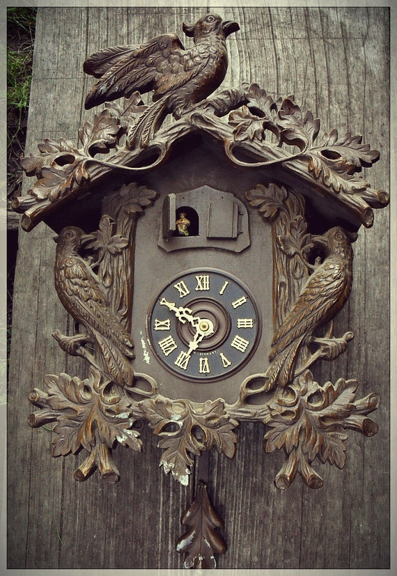 Unusual Large Black Forest Cuckoo Clock By Bedlamsupplyco