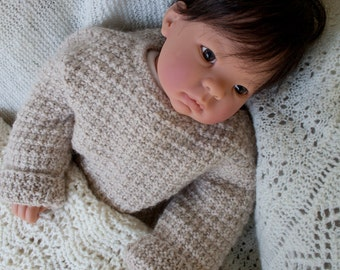 sale: Hand Knit Alpaca Baby Sweater Pullover, Luxury for Baby