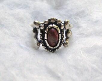 Vintage Carnelian Silver Ring