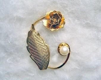 Vintage Flower Bud Pin