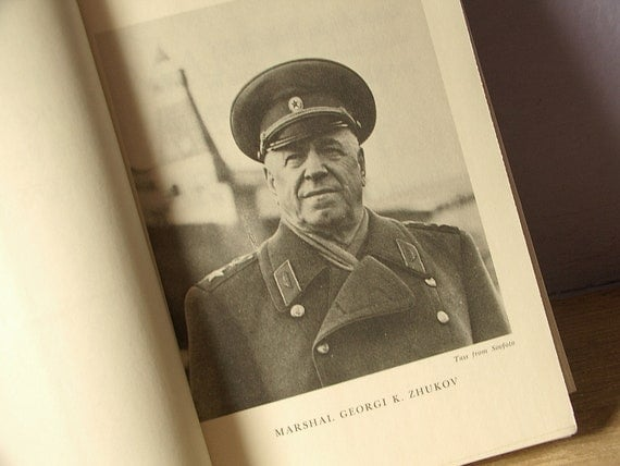 Vintage Marshal Zhukov's Greatest Battles, 1969, 1st edition, Russian military history book 1940's USSR, world war 2
