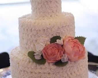 Gumpaste peonies, leaves and hydrangeas for wedding cake, DIY wedding cake decorations