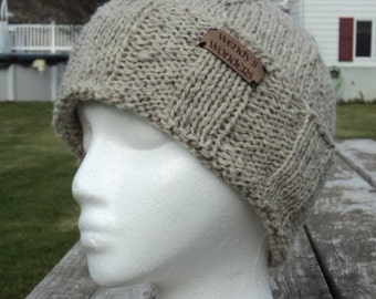 Knit Hat for Men, Knitted Mens Winter Hat, wool/mohair