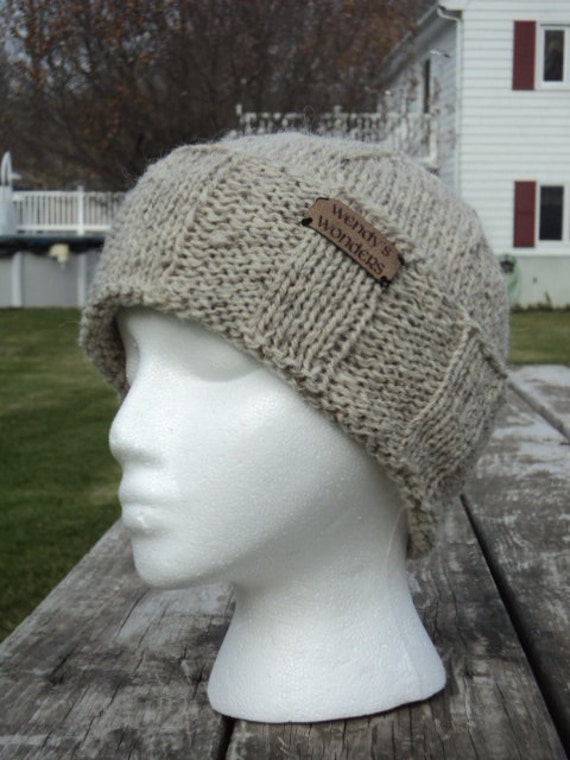 Mens Winter Hat, wool/mohair