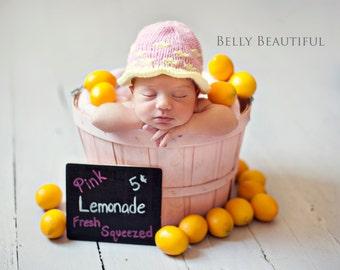 Newborn Photo Prop Knitting Pattern - Knit Baby Hat Pattern - Newborn Hat Knitting Pattern - Baby Clothing Knitting Pattern