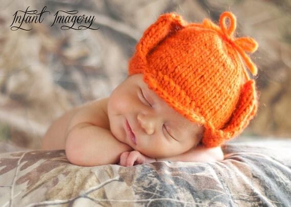 Fuddy Duddy Hunter Hat Knitting Pattern - All Sizes Newborn through Adult male Included - PDF Sale