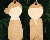 Bride & Groom Newlyweds Christmas Ornament