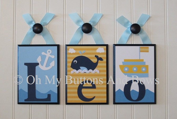 Wall Letters For Nursery Nautical Theme Boats