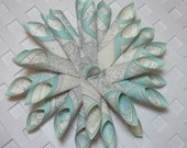 Map Wreath Paper Cone Wreath Upcycled Paper Wreath Handmade Atlas Wreath