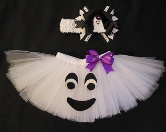 Little Ghost tutu set, custom made up to a 4t