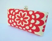 clutch purse, red bridesmaid clutch, spring wedding clutch, red clutch
