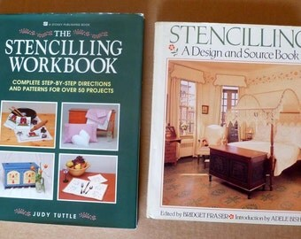 Stencilling Two beautiful craft books Stencils for walls, floors, furniture, fabric