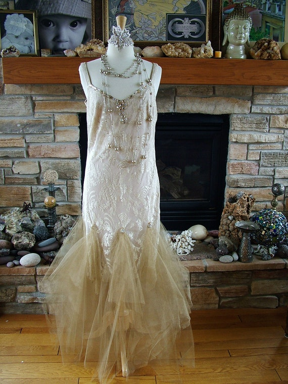 wedding dress 1920s flapper inspired bridal gown size 12 boardwalk