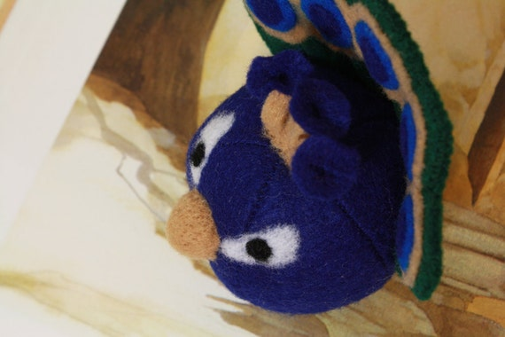 roly poly peacock doll