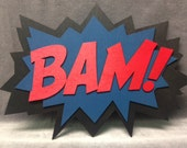 LARGE Comic Book BAM Quote Wall Art/Plaque