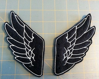 Bold Black and White Percy Jackson Inspired Shoe Wings