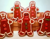 Gingerbread Men Natural Glycerin soap scented in Hansel & Gretel's House Stocking Stuffers