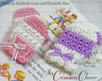 Crochet Pattern Baby Mittens - STAR STITCH MITTS