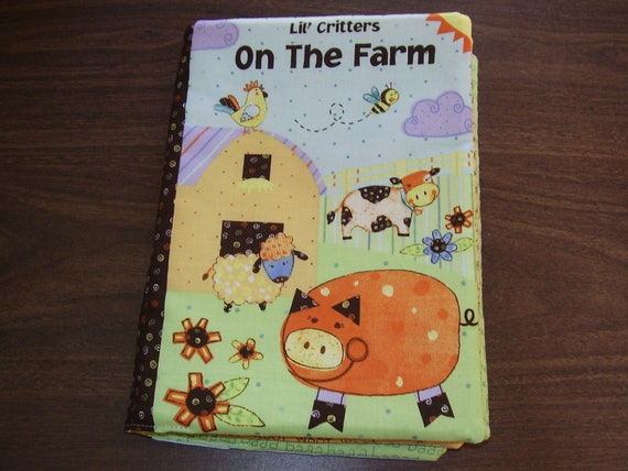 Lil' Critters On The Farm Soft Story Fabric Baby Toddler Book