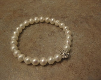 pearl bracelet, pearl jewelry, freshwater pearl stretch bracelet, pearl stretch bracelet, natural pearls jewelry, real pearls