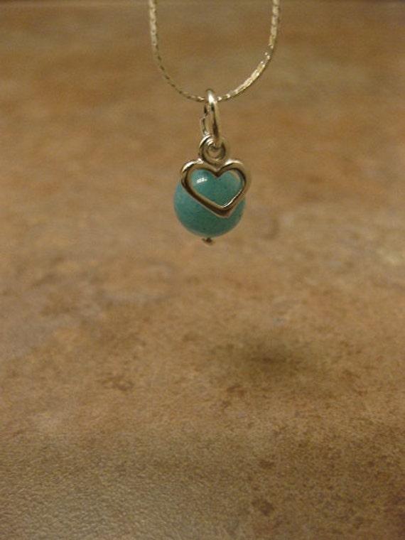 amazonite necklace, amazonite jewelry,heart necklace,  amazonite heart necklace,18kt white gold plated chain, heart charm, heart pendant