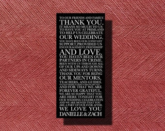 Custom Designed Destination Wedding Thank You Card DIY Print-Ready