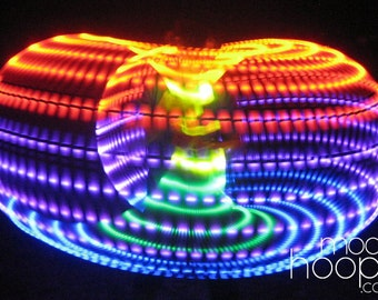 Rainbow LED hoop, by Moodhoops