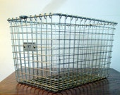 Vintage Locker Room Basket Industrial Chic Number 97