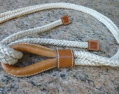 Ladies Braided Rope Belt With Leather Ends