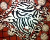 Special Order for Kristine - Green Volleyball and Chevron Print Handtied Fleece Blanket