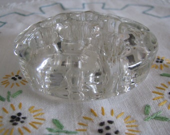 Vintage Glass Flower Frog