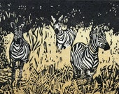 Zebra, Hand Pulled, Limited Edition