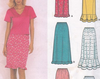Romantic Style 6 made easy skirt uncut sewing pattern Sizes 6 8 10 12 Simplicity 9570 Desings by Karen Z