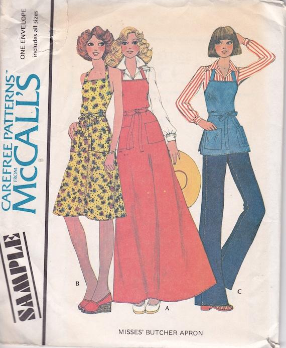 Misses Butcher Apron One Size McCalls 1975 uncut