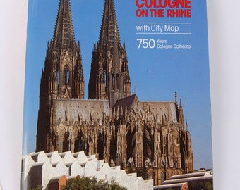 1998 Book City Map of Cologne - Inner City Vintage Germany Guidebook Leverkusen