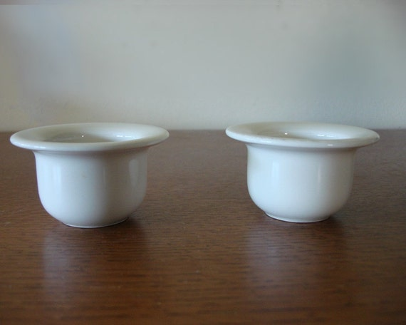 Vintage ARABIA Egg Cups by Inkeri Leivo Finland 1970s White