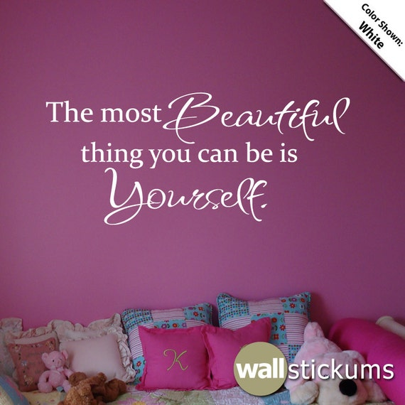 Items similar to the most beautiful thing you can be is for Beautiful barbie wall decals