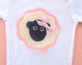 Baby Sheep Bodysuit Pink