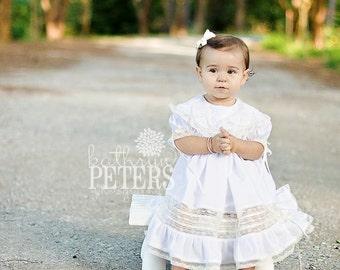 Tea Party Wedding Ring Heirloom Girl's Dress and Slip