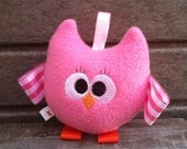 MADE TO ORDER - Baby Owl Plushie with Wings and Feet - A Rainbow of Colors - Baby Boy or Girl