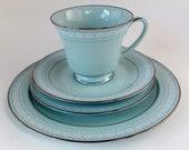 Sale- 50% OFF- Everything Must Go! Noritake Wedding Veil 4 Piece Tea Set