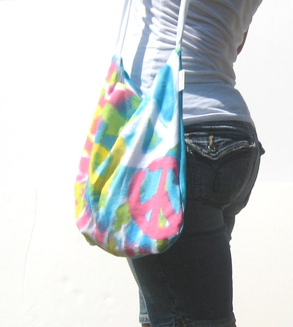 Cross Body Bag. Eco Fashion. Messenger Purse. OOAK Fun Funky Fresh Modern Style Ready to Ship. neon bright bold style. white yellow pink