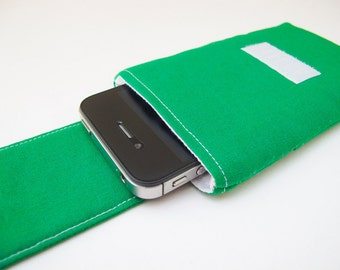 Green iPhone 4 Case - Gadget Case - Green iPhone Sleeve