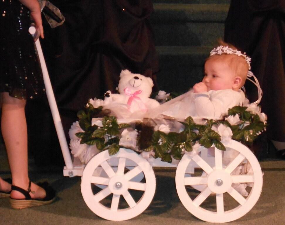 Small Flower Girl Wedding Wagon Gloss White or Ivory