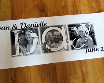 Guest Signature Poster- Personalized Photo Letter GICLEE Print- made to order- FAMILY LOVE, last name- price per letter