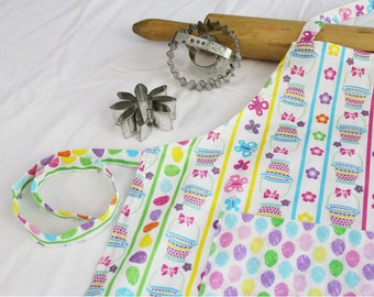 Easter Baskets and Jellybeans Child Apron
