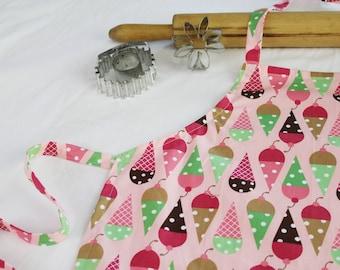 Ice Cream on Pink Child Apron