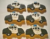 Police car sugar cookies