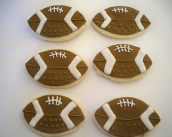 Football Sugar Cookies - football birthday - sports birthday - football favors - fantasy football - sports favors - football party